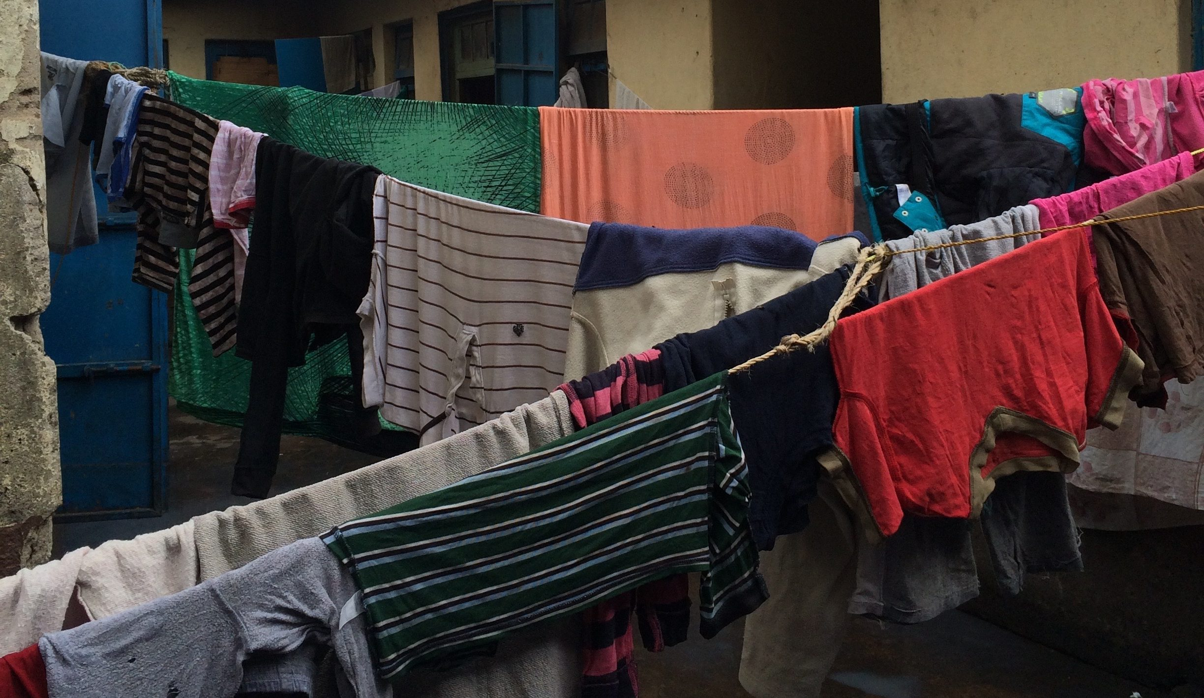 decorative image of laundy hanging out to dry in Nairobi